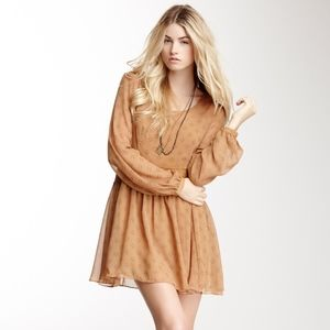Free People Baby Dee Chiffon Dress - Small